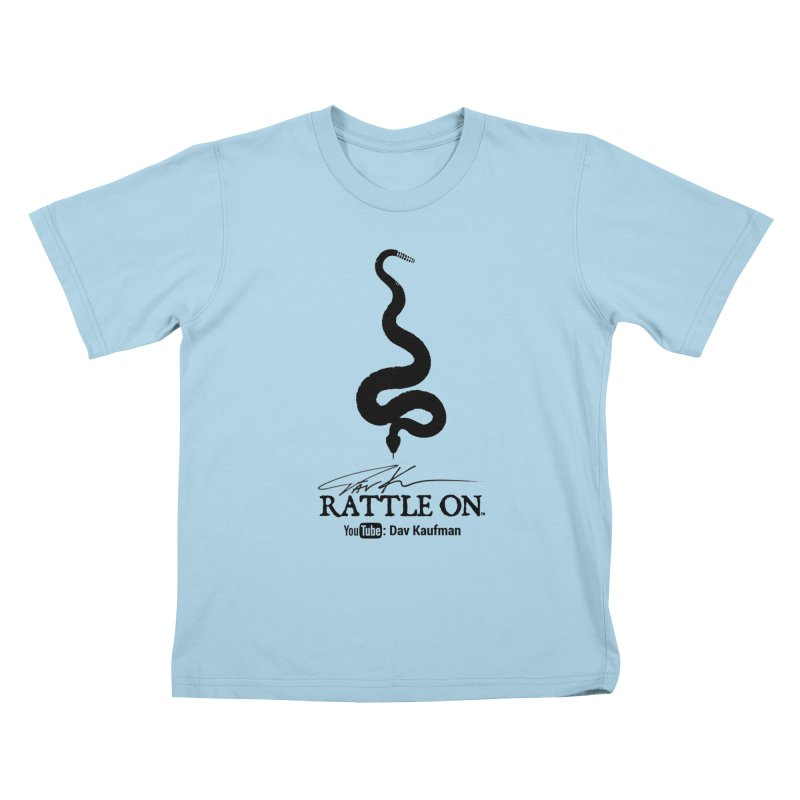 Black Rattle On Logo Kids T-Shirt by Dav Kaufman's Swag Shop!