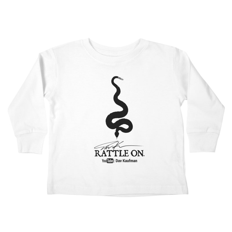 Black Rattle On Logo Kids Toddler Longsleeve T-Shirt by Dav Kaufman's Swag Shop!