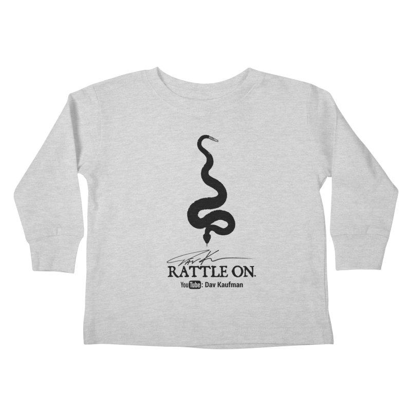 Black Rattle On Logo Kids Toddler Longsleeve T-Shirt by Dav Kaufman's Swag Shop!