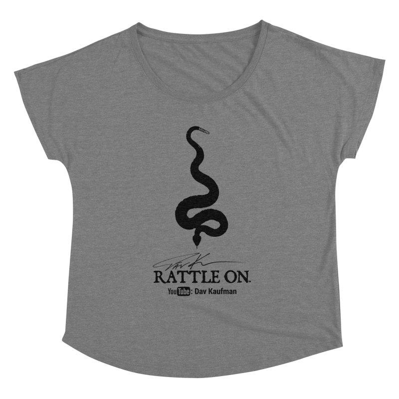 Black Rattle On Logo Women's Scoop Neck by Dav Kaufman's Swag Shop!