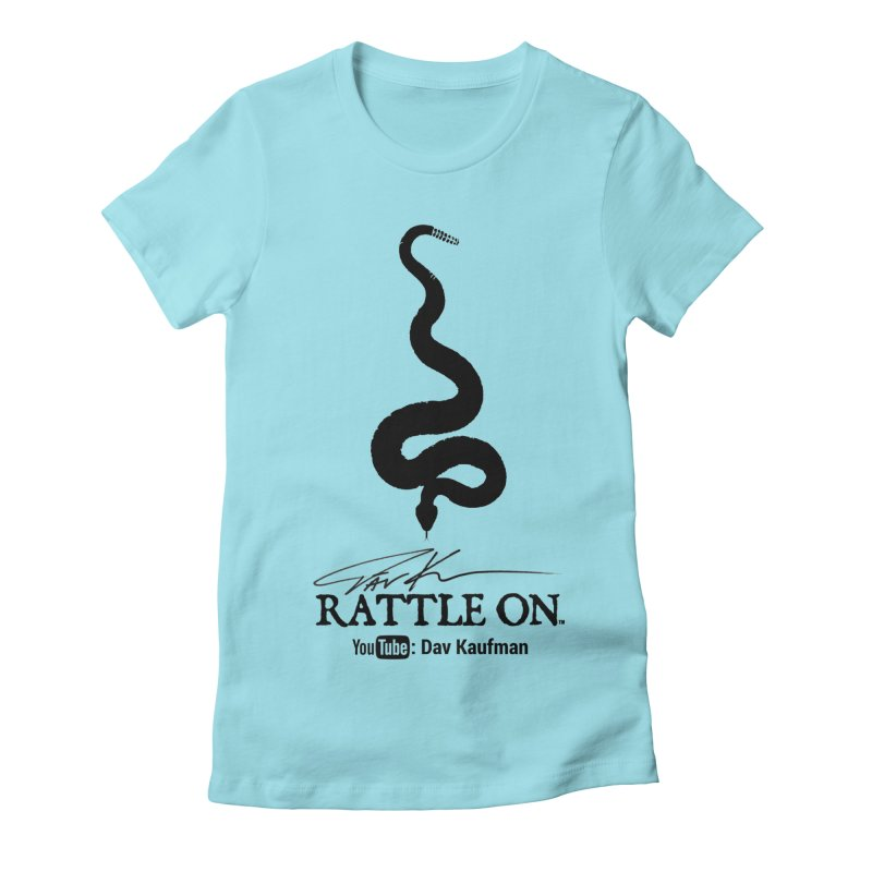 Black Rattle On Logo Women's T-Shirt by Dav Kaufman's Swag Shop!