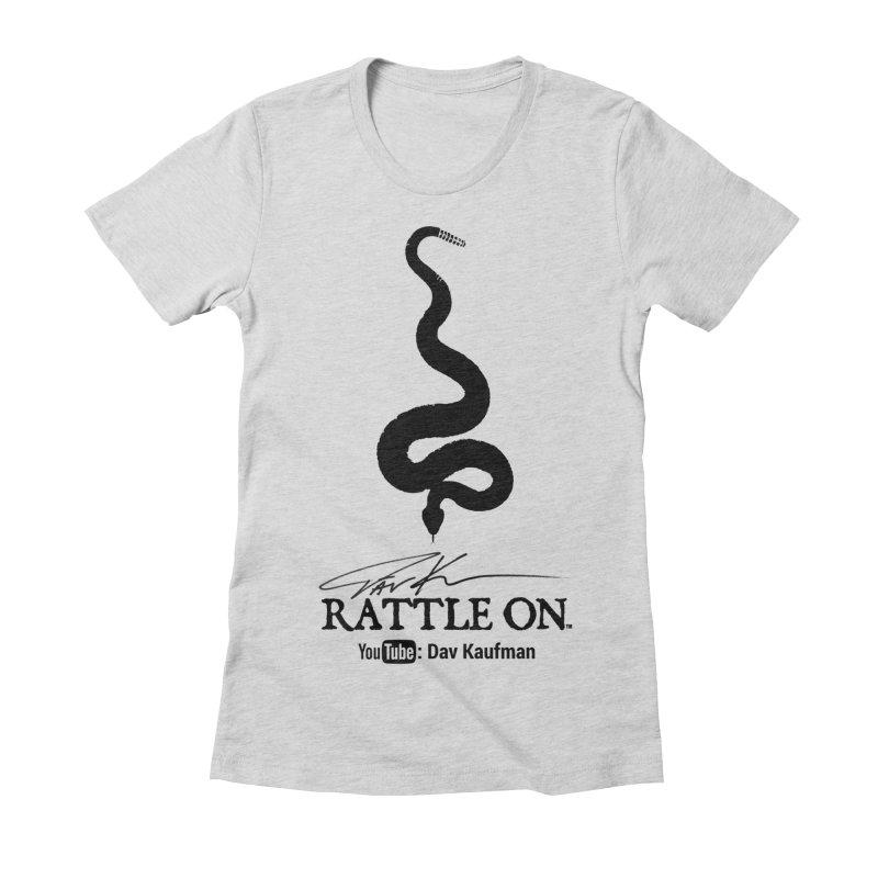 Black Rattle On Logo Women's T-Shirt by Dav Kaufman's Swag Shop!