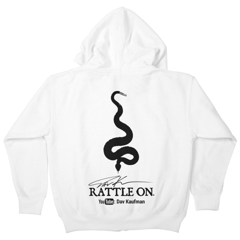 Black Rattle On Logo Kids Zip-Up Hoody by Dav Kaufman's Swag Shop!