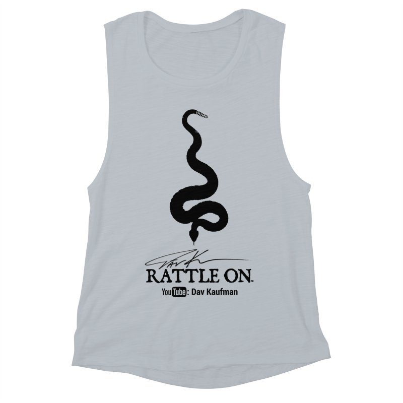 Black Rattle On Logo Women's Muscle Tank by Dav Kaufman's Swag Shop!