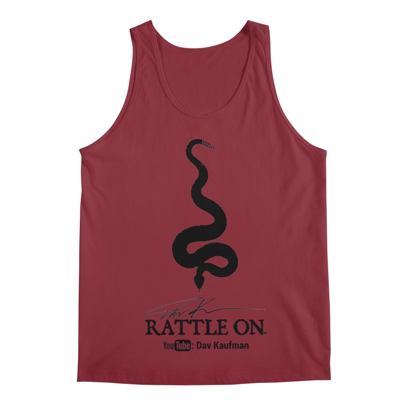 Black Rattle On Logo Men's Tank by Dav Kaufman's Swag Shop!