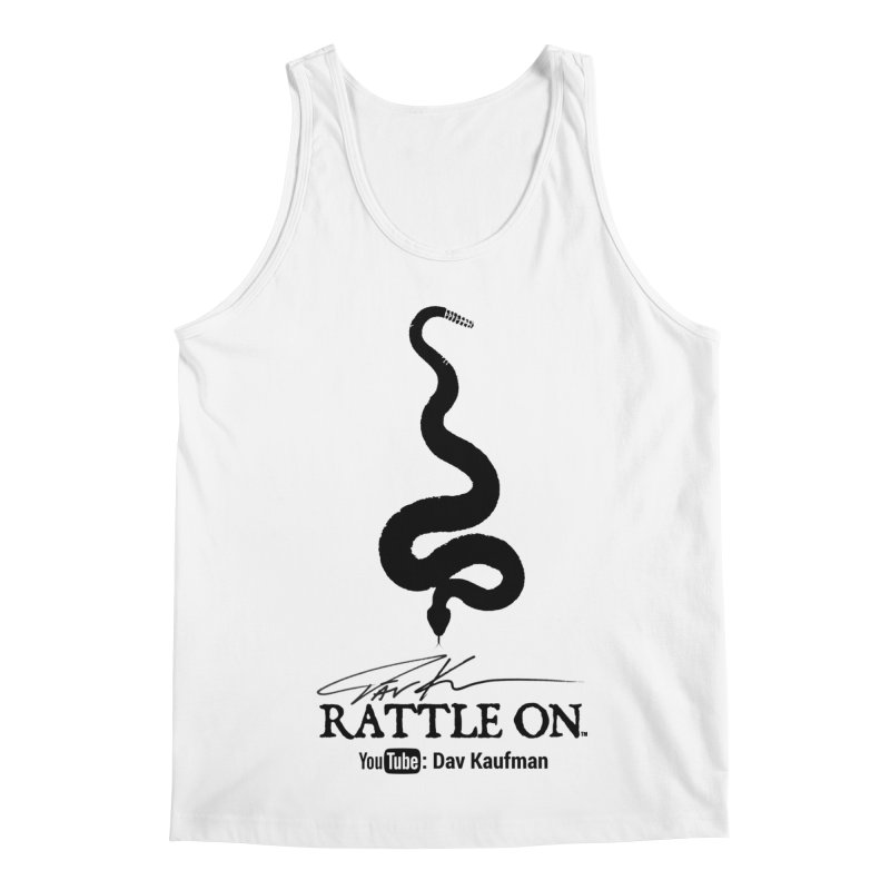 Black Rattle On Logo Men's Regular Tank by Dav Kaufman's Swag Shop!