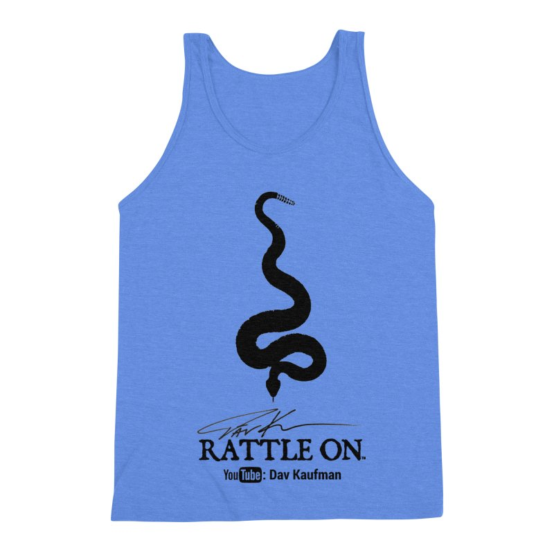 Black Rattle On Logo Men's Triblend Tank by Dav Kaufman's Swag Shop!
