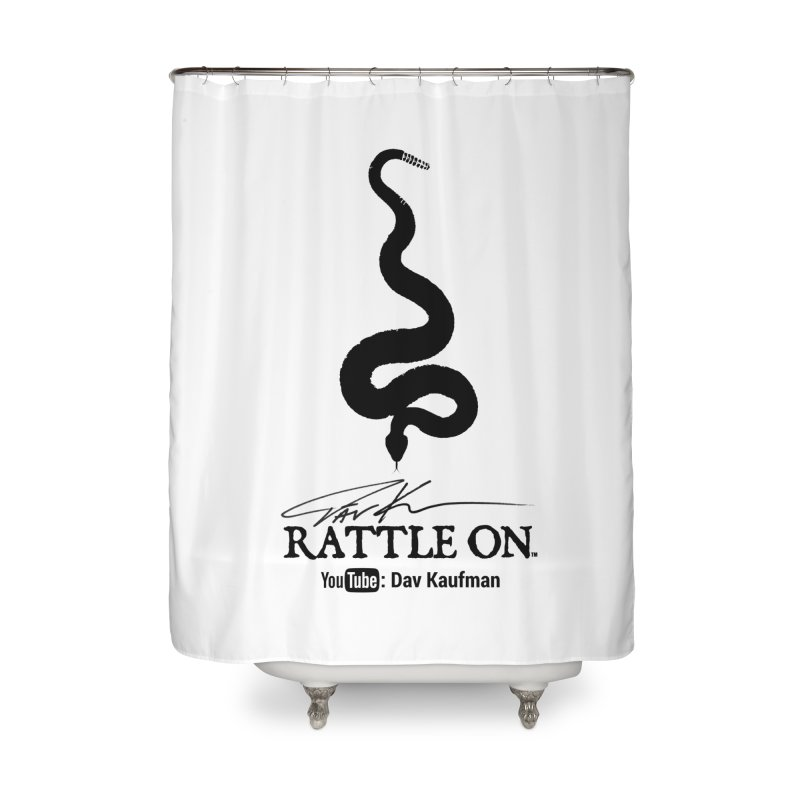 Black Rattle On Logo Home Shower Curtain by Dav Kaufman's Swag Shop!