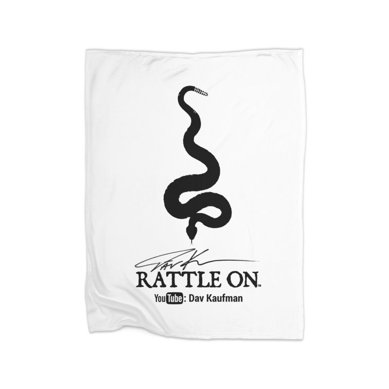 Black Rattle On Logo Home Fleece Blanket Blanket by Dav Kaufman's Swag Shop!