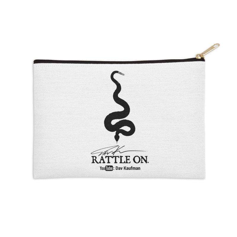 Black Rattle On Logo Accessories Zip Pouch by Dav Kaufman's Swag Shop!