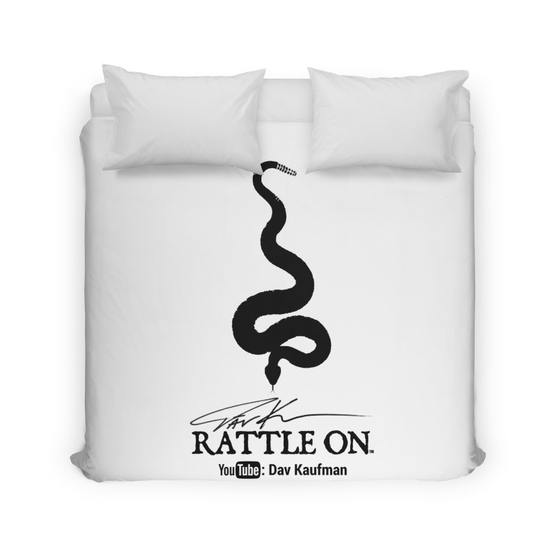 Black Rattle On Logo Home Duvet by Dav Kaufman's Swag Shop!