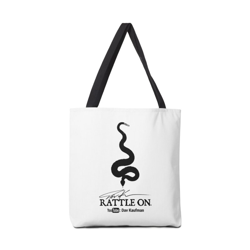 Black Rattle On Logo Accessories Tote Bag Bag by Dav Kaufman's Swag Shop!