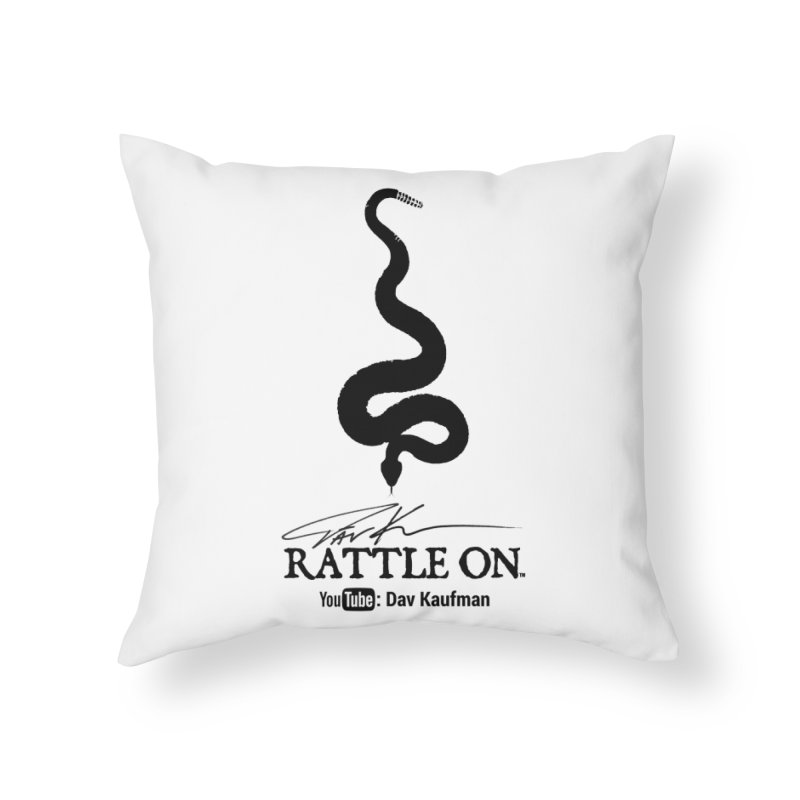 Black Rattle On Logo Home Throw Pillow by Dav Kaufman's Swag Shop!