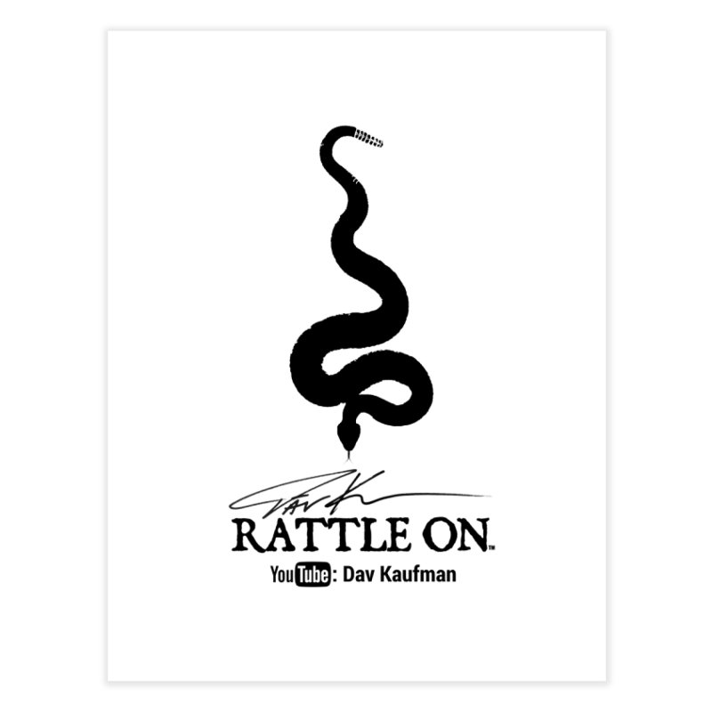 Black Rattle On Logo Home Fine Art Print by Dav Kaufman's Swag Shop!