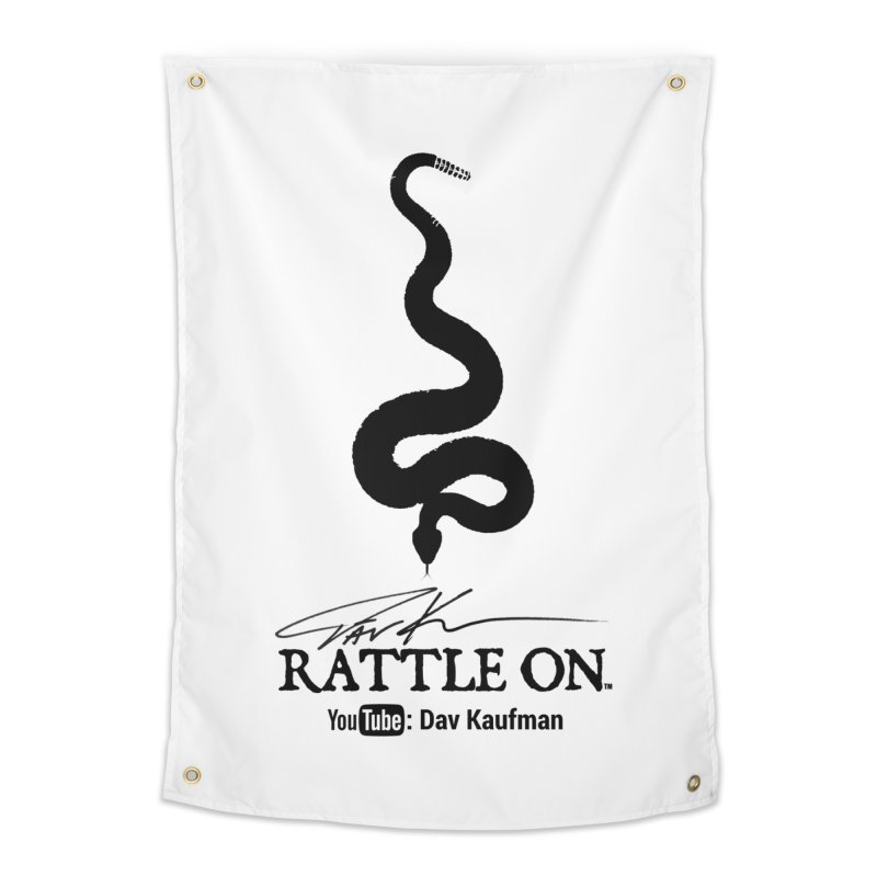 Black Rattle On Logo Home Tapestry by Dav Kaufman's Swag Shop!