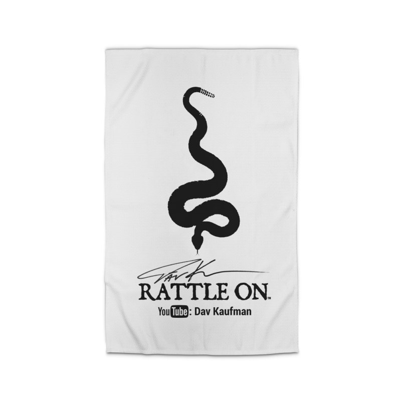 Black Rattle On Logo Home Rug by Dav Kaufman's Swag Shop!