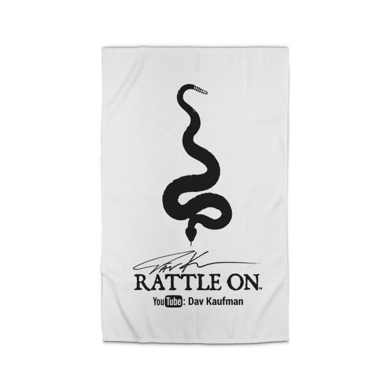Black Rattle On Logo Home Rug by Dav Kaufman's Swag Shop!