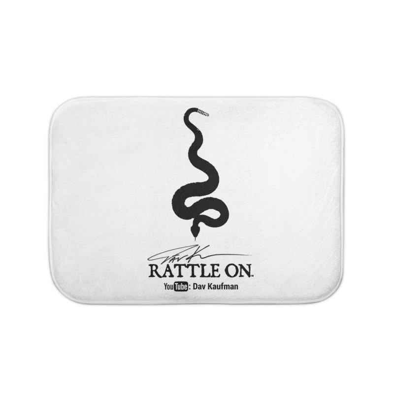 Black Rattle On Logo Home Bath Mat by Dav Kaufman's Swag Shop!
