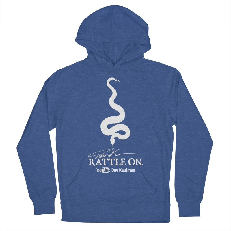 White Rattle On Logo Women's Pullover Hoody by Dav Kaufman's Swag Shop!