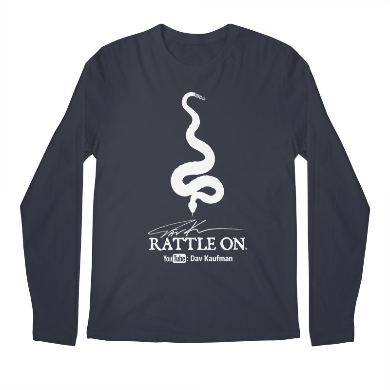 White Rattle On Logo Men's Longsleeve T-Shirt by Dav Kaufman's Swag Shop!