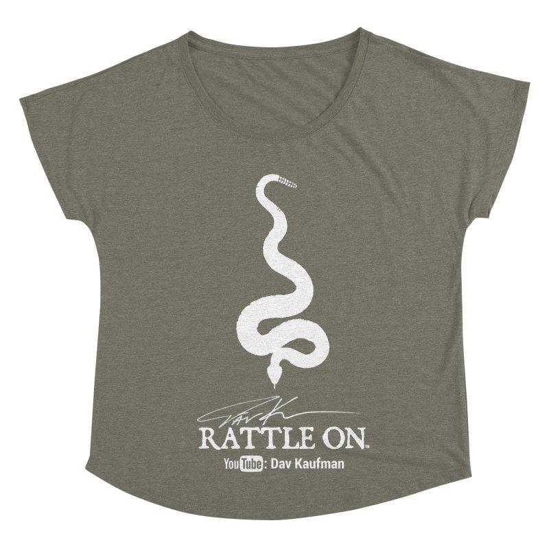 White Rattle On Logo Women's Scoop Neck by Dav Kaufman's Swag Shop!