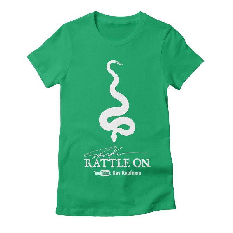 White Rattle On Logo Women's T-Shirt by Dav Kaufman's Swag Shop!