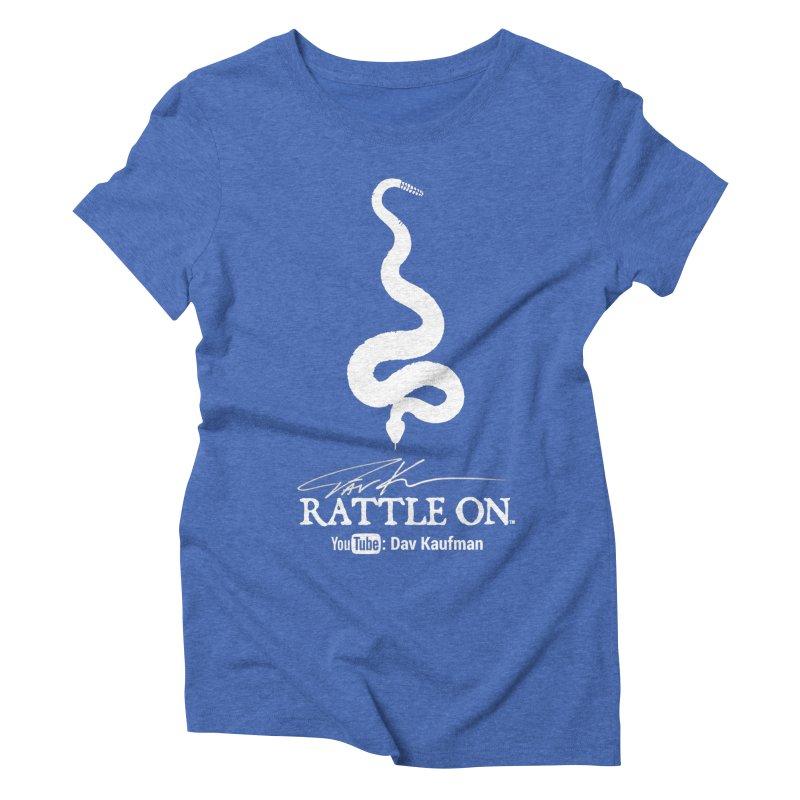 White Rattle On Logo Women's Triblend T-shirt by Dav Kaufman's Swag Shop!