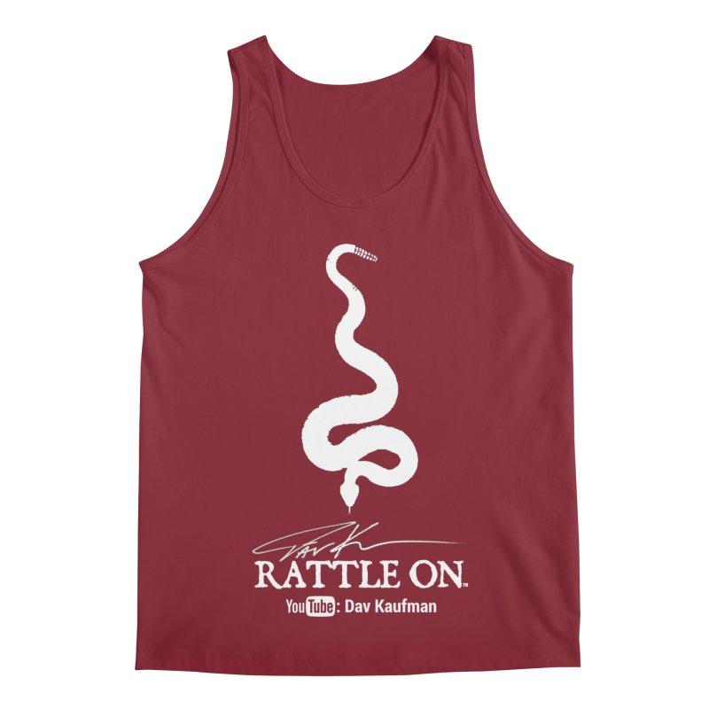 White Rattle On Logo Men's Tank by Dav Kaufman's Swag Shop!