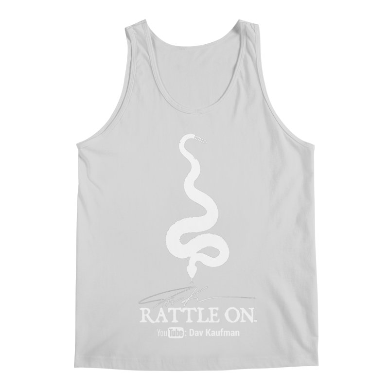 White Rattle On Logo Men's Regular Tank by Dav Kaufman's Swag Shop!