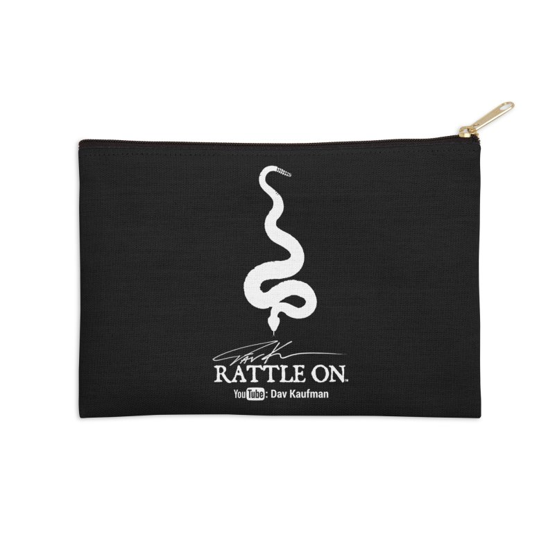 White Rattle On Logo Accessories Zip Pouch by Dav Kaufman's Swag Shop!