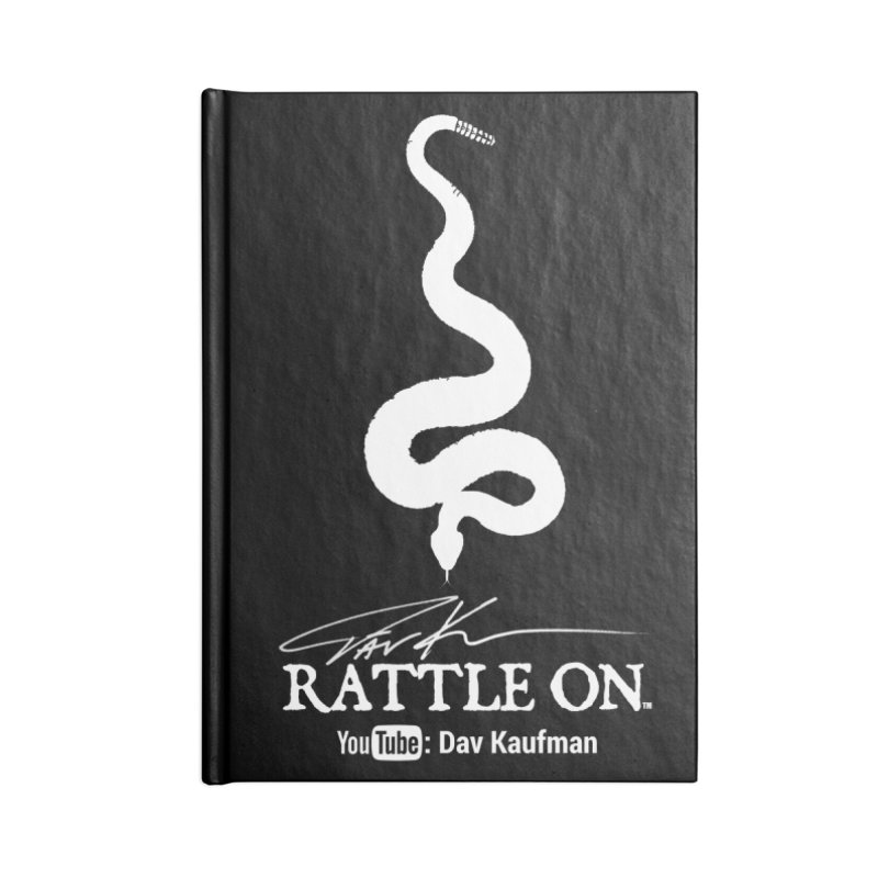 White Rattle On Logo Accessories Blank Journal Notebook by Dav Kaufman's Swag Shop!