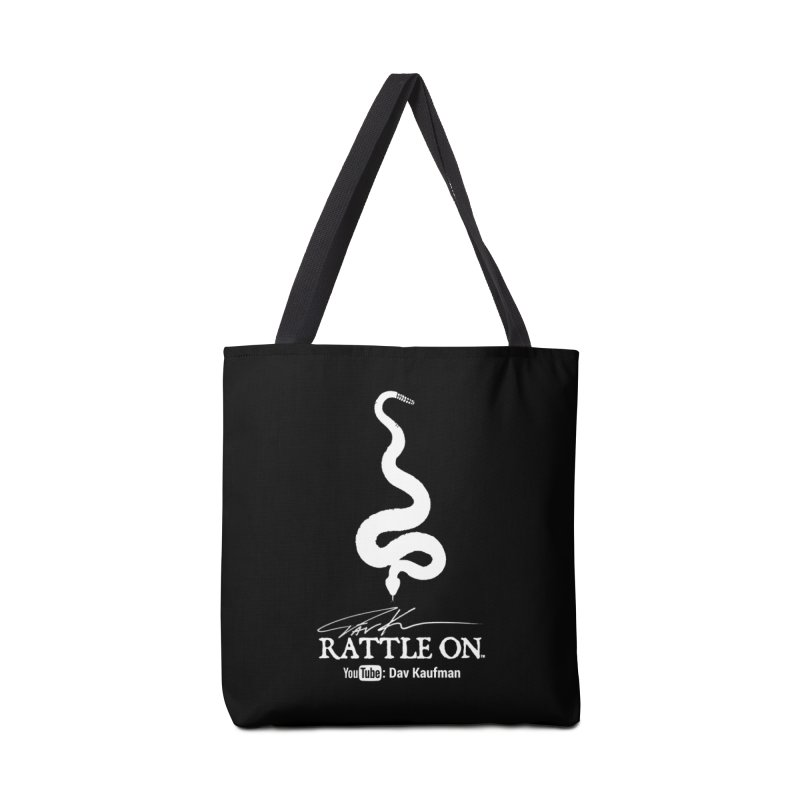 White Rattle On Logo Accessories Bag by Dav Kaufman's Swag Shop!