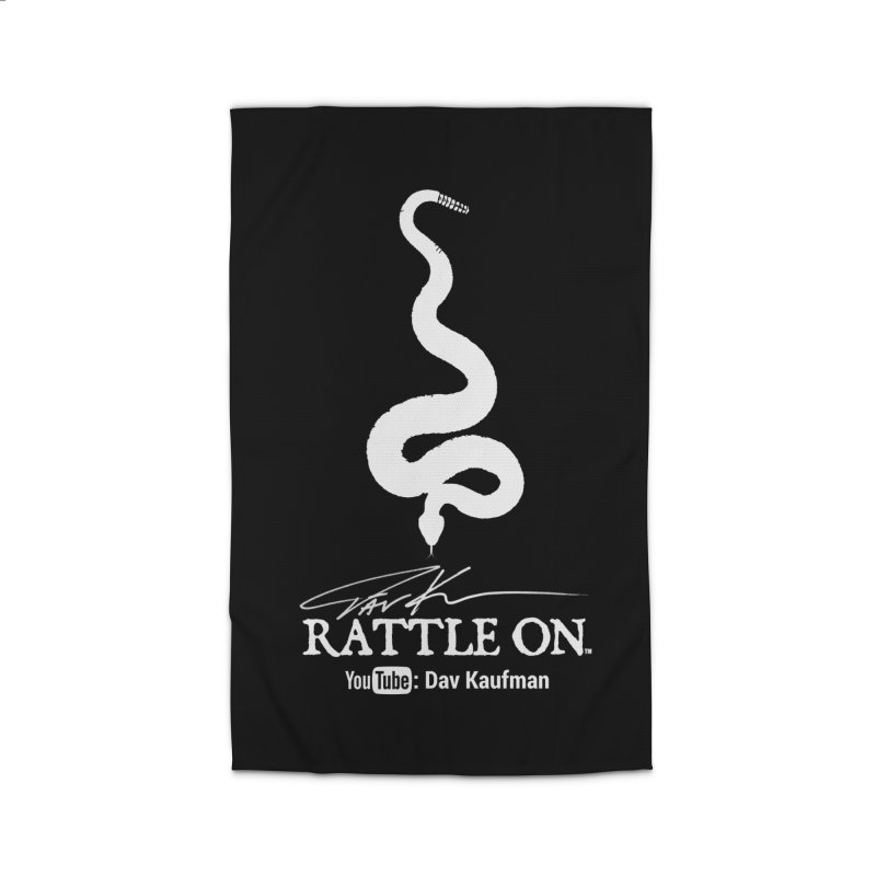 White Rattle On Logo Home Rug by Dav Kaufman's Swag Shop!