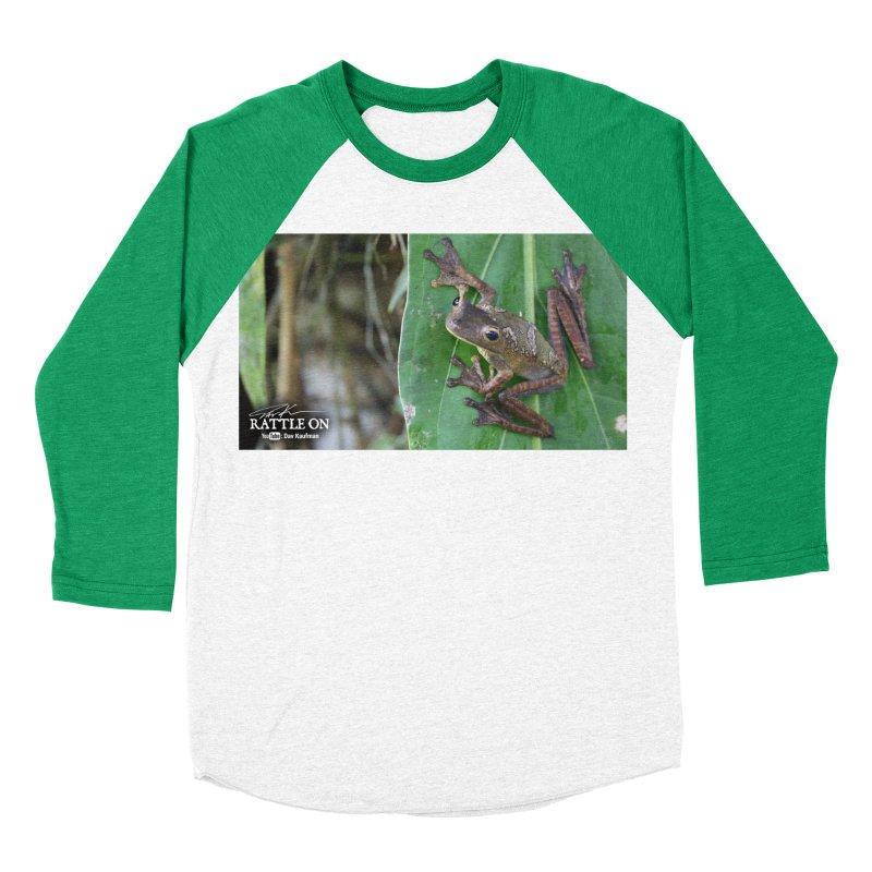 Map Frog 2 Women's Baseball Triblend Longsleeve T-Shirt by Dav Kaufman's Swag Shop!