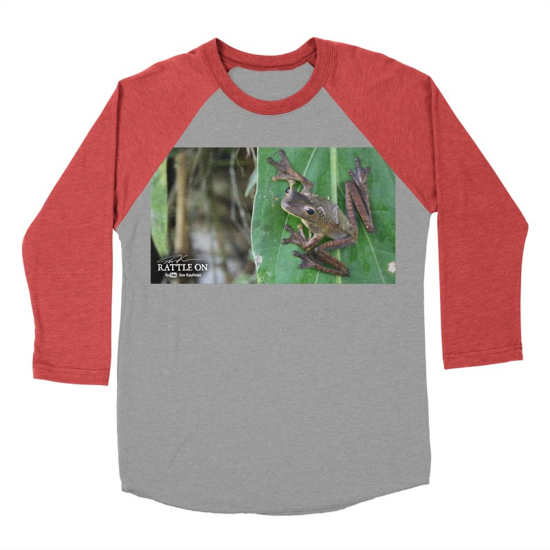 Map Frog 2 Women's Baseball Triblend T-Shirt by Dav Kaufman's Swag Shop!