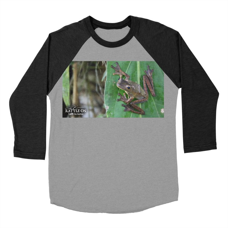 Map Frog 2 Men's Baseball Triblend T-Shirt by Dav Kaufman's Swag Shop!