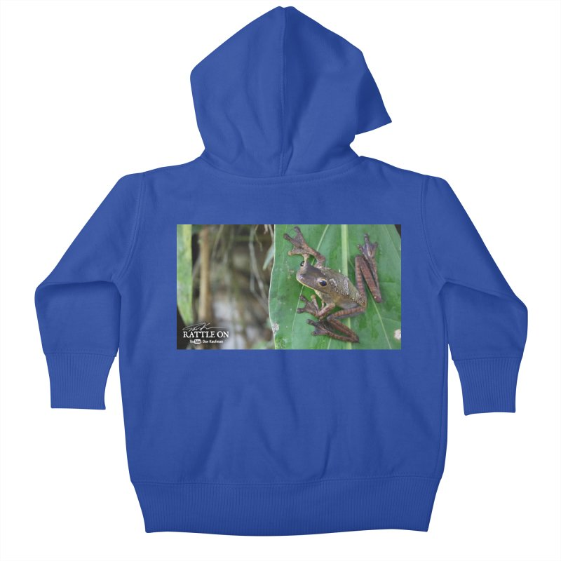 Map Frog 2 Kids Baby Zip-Up Hoody by Dav Kaufman's Swag Shop!