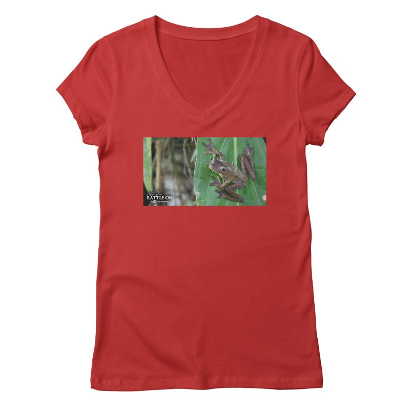 Map Frog 2 Women's V-Neck by Dav Kaufman's Swag Shop!