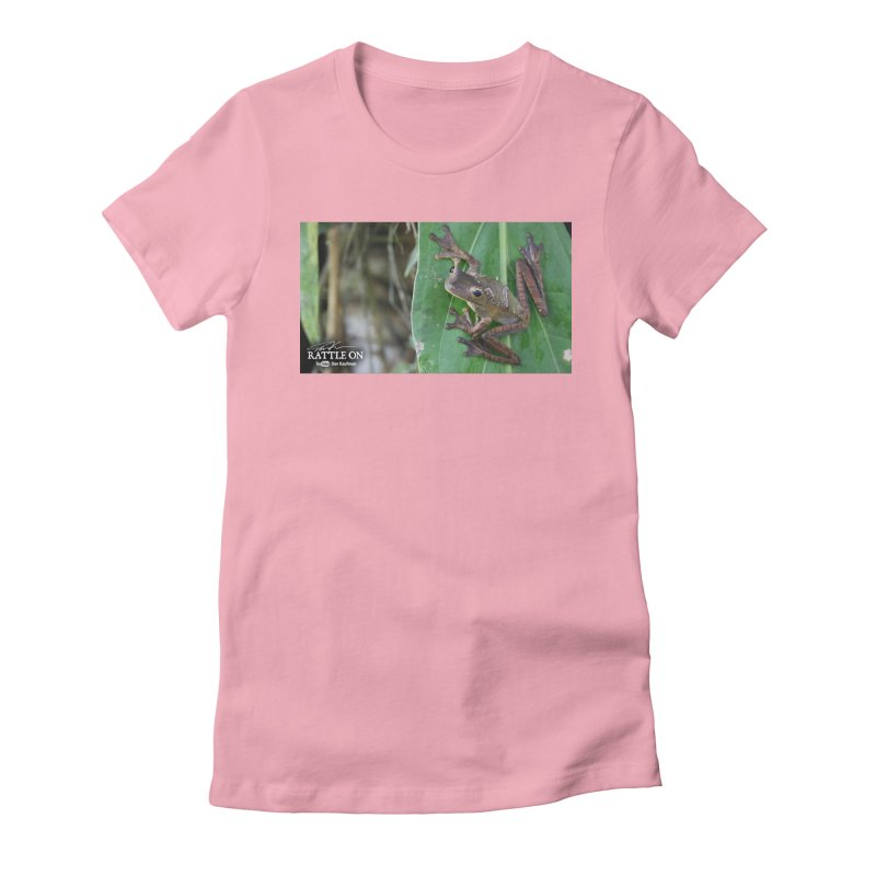 Map Frog 2 Women's Fitted T-Shirt by Dav Kaufman's Swag Shop!