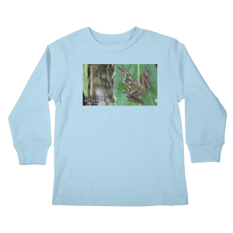 Map Frog 2 Kids Longsleeve T-Shirt by Dav Kaufman's Swag Shop!