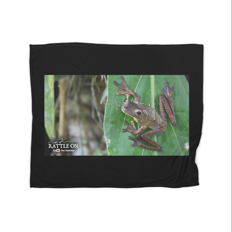 Map Frog 2 Home Fleece Blanket Blanket by Dav Kaufman's Swag Shop!