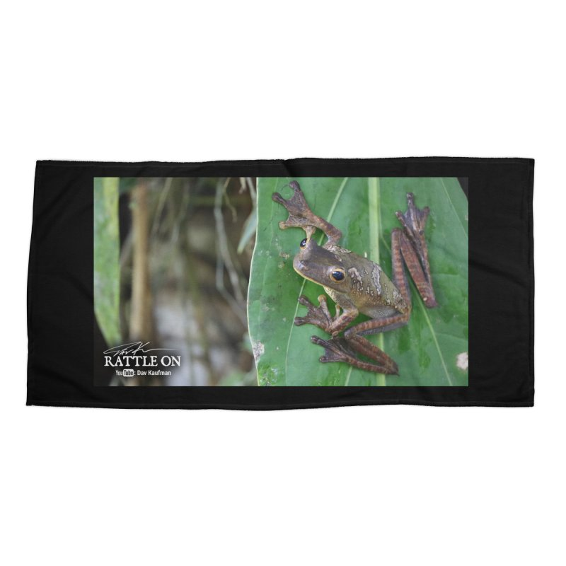 Map Frog 2 Accessories Beach Towel by Dav Kaufman's Swag Shop!