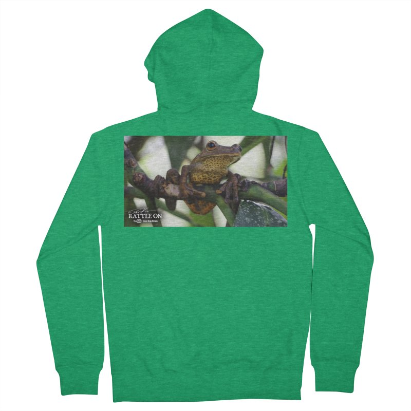 Map Frog Women's Zip-Up Hoody by Dav Kaufman's Swag Shop!