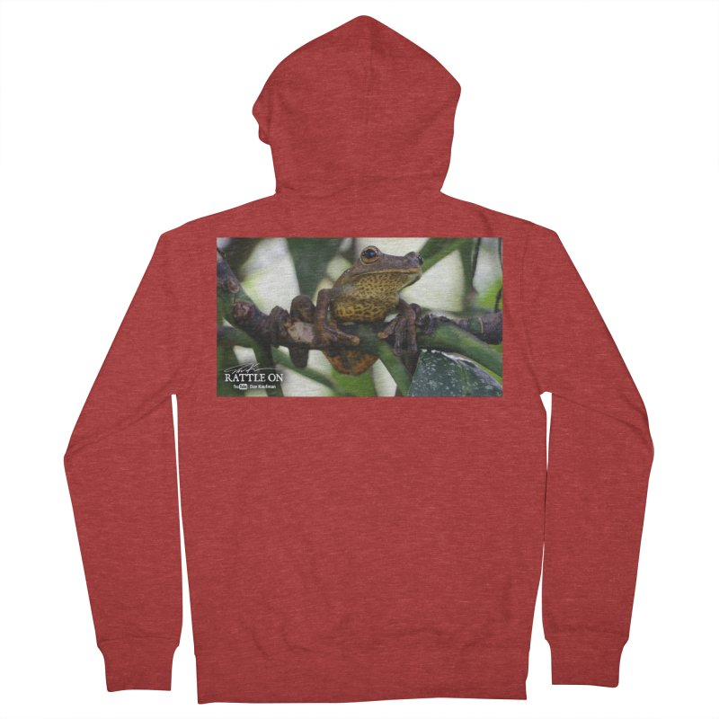 Map Frog Women's French Terry Zip-Up Hoody by Dav Kaufman's Swag Shop!