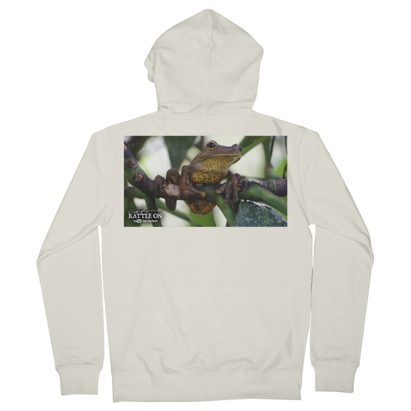 Map Frog Men's French Terry Zip-Up Hoody by Dav Kaufman's Swag Shop!