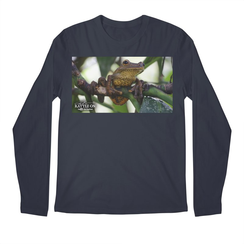 Map Frog Men's Regular Longsleeve T-Shirt by Dav Kaufman's Swag Shop!