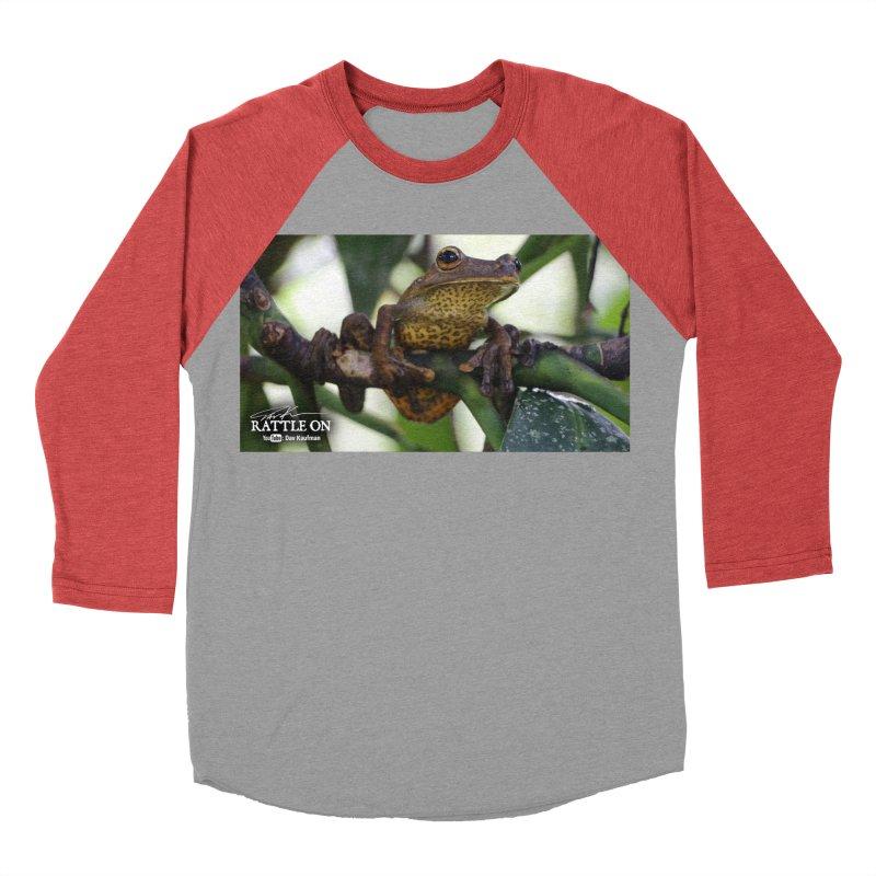 Map Frog Women's Baseball Triblend Longsleeve T-Shirt by Dav Kaufman's Swag Shop!