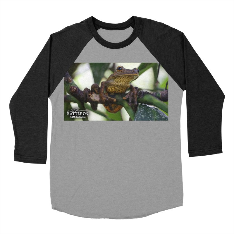 Map Frog Women's Baseball Triblend Longsleeve T-Shirt by Dav Kaufman's Swag Shop!