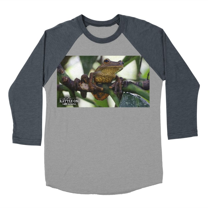Map Frog Women's Baseball Triblend T-Shirt by Dav Kaufman's Swag Shop!