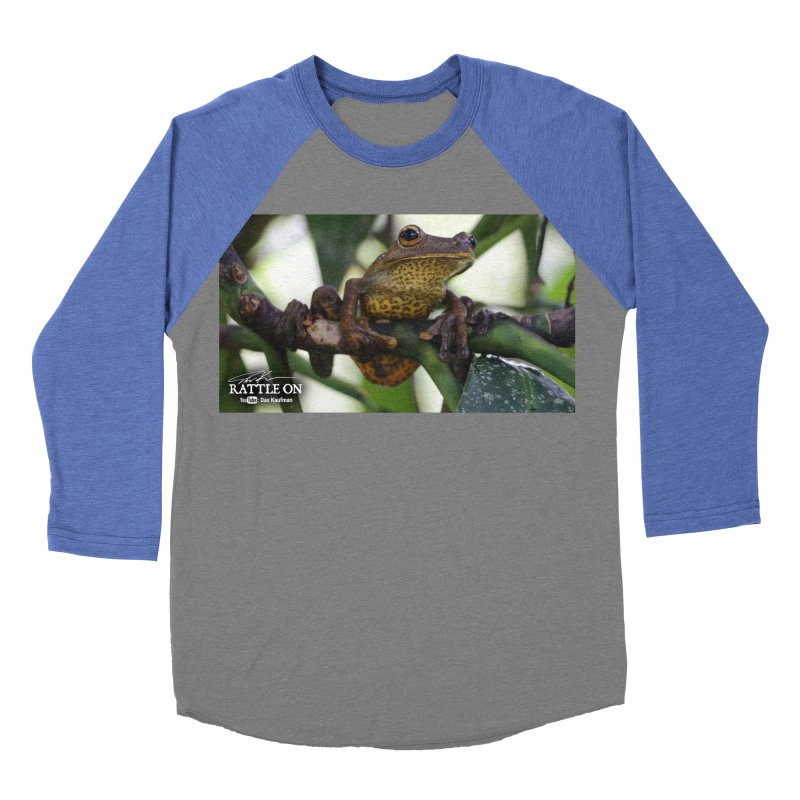 Map Frog Men's Baseball Triblend Longsleeve T-Shirt by Dav Kaufman's Swag Shop!